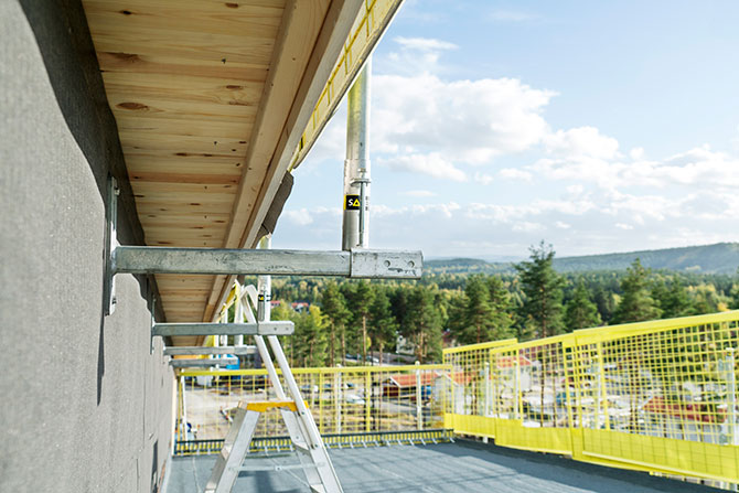 Fall protection on wood structures