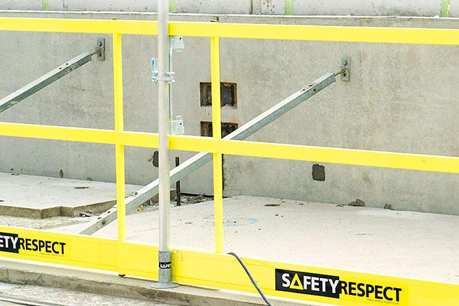 Frame barrier holder edge protection