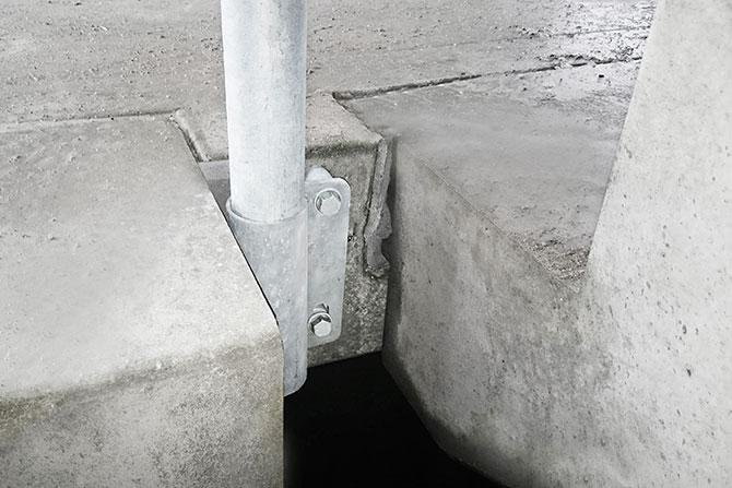 Stair bracket edge protection