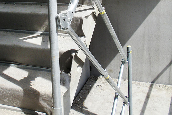Edge protection concrete stairs