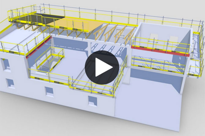 Interactive 3D demo with fall protection solutions