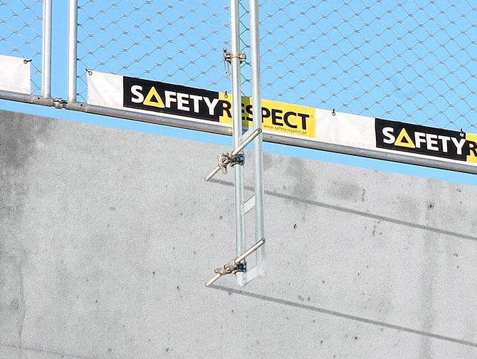 Attachment fall protection concrete
