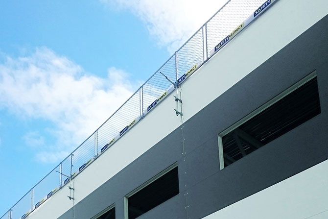 Edge protection hall building