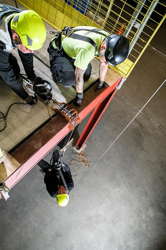 Personal fall protection rescue kit