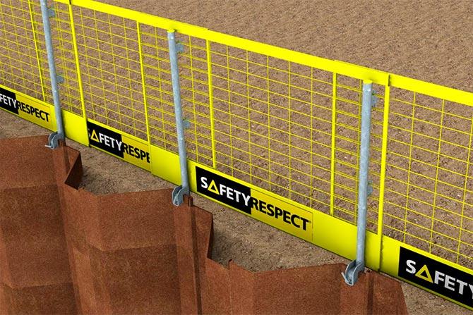Edge protection sheet piling