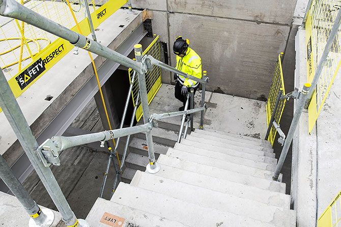 Edge protection stairs