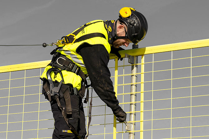 Training courses collective fall protection